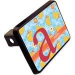 "Rubber Duckies & Flowers Rectangular Trailer Hitch Cover - 2"" (Personalized)"