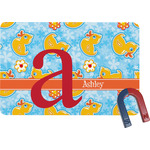 Rubber Duckies & Flowers Rectangular Fridge Magnet (Personalized)