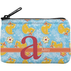 Rubber Duckies & Flowers Rectangular Coin Purse (Personalized)