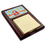 Rubber Duckies & Flowers Red Mahogany Sticky Note Holder (Personalized)