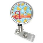 Rubber Duckies & Flowers Retractable Badge Reel (Personalized)
