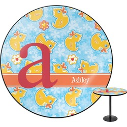 Rubber Duckies & Flowers Round Table (Personalized)