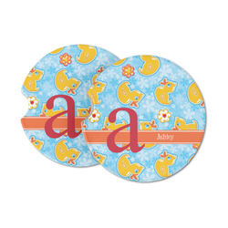 Rubber Duckies & Flowers Sandstone Car Coasters (Personalized)