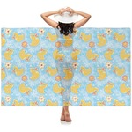 Rubber Duckies & Flowers Sheer Sarong (Personalized)