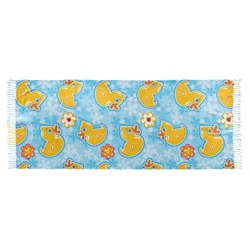 Rubber Duckies & Flowers Faux Pashmina Scarf (Personalized)