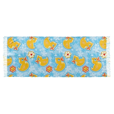 Rubber Duckies & Flowers Faux Pashmina Shawl (Personalized)