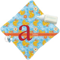 Rubber Duckies & Flowers Security Blanket (Personalized)