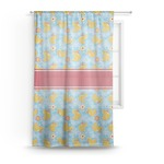Rubber Duckies & Flowers Sheer Curtains (Personalized)