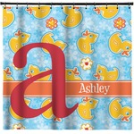 Rubber Duckies & Flowers Shower Curtain (Personalized)