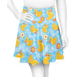 Rubber Duckies & Flowers Skater Skirt (Personalized)