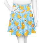 Rubber Duckies & Flowers Skater Skirt (Personalized)