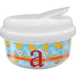 Rubber Duckies & Flowers Snack Container (Personalized)