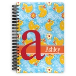 Rubber Duckies & Flowers Spiral Bound Notebook (Personalized)
