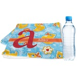 Rubber Duckies & Flowers Sports Towel (Personalized)