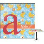 Rubber Duckies & Flowers Square Table Top (Personalized)