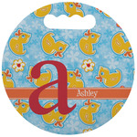 Rubber Duckies & Flowers Stadium Cushion (Round) (Personalized)