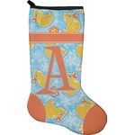 Rubber Duckies & Flowers Christmas Stocking - Neoprene (Personalized)