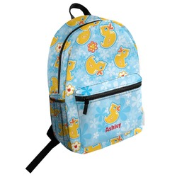 Rubber Duckies & Flowers Student Backpack (Personalized)