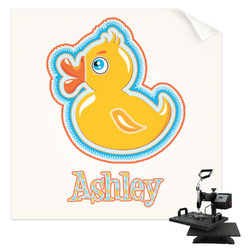 Rubber Duckies & Flowers Sublimation Transfer (Personalized)