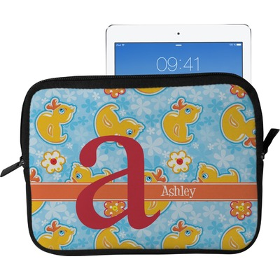 Rubber Duckies & Flowers Tablet Case / Sleeve - Large (Personalized)