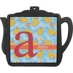 Rubber Duckies & Flowers Teapot Trivet (Personalized)