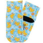 Rubber Duckies & Flowers Toddler Ankle Socks (Personalized)