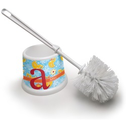 Rubber Duckies & Flowers Toilet Brush (Personalized)