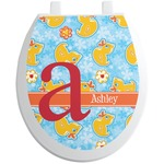Rubber Duckies & Flowers Toilet Seat Decal (Personalized)