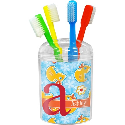 Rubber Duckies & Flowers Toothbrush Holder (Personalized)