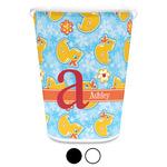 Rubber Duckies & Flowers Waste Basket (Personalized)