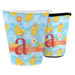 Rubber Duckies & Flowers Waste Basket (Personalized)