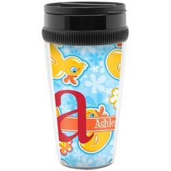 Rubber Duckies & Flowers Travel Mug (Personalized)