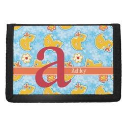 Rubber Duckies & Flowers Trifold Wallet (Personalized)