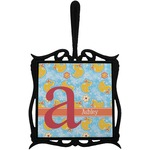Rubber Duckies & Flowers Trivet with Handle (Personalized)