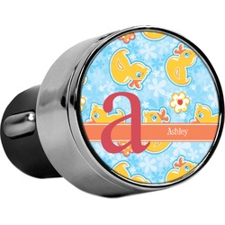 Rubber Duckies & Flowers USB Car Charger (Personalized)