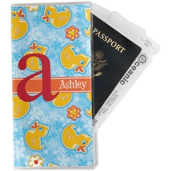 Rubber Duckies & Flowers Travel Document Holder