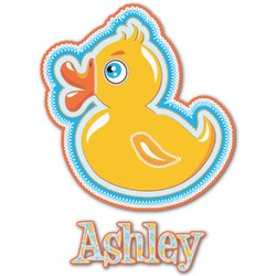 Rubber Duckies & Flowers Graphic Decal - Custom Sized (Personalized)