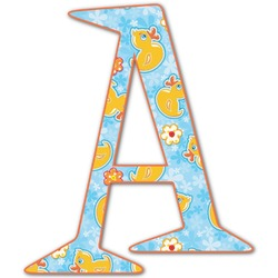 Rubber Duckies & Flowers Letter Decal - Custom Sizes (Personalized)