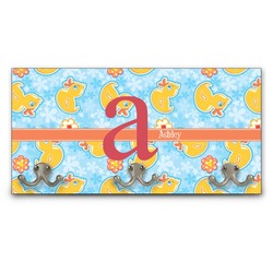 Rubber Duckies & Flowers Wall Mounted Coat Rack (Personalized)
