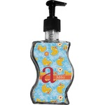 Rubber Duckies & Flowers Wave Bottle Soap / Lotion Dispenser (Personalized)