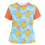 Rubber Duckies & Flowers Women's Crew T-Shirt (Personalized)
