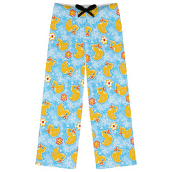 Rubber Duckies & Flowers Womens Pajama Pants (Personalized)