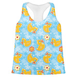 Rubber Duckies & Flowers Womens Racerback Tank Top (Personalized)