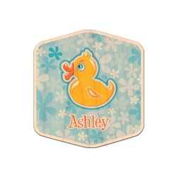 Rubber Duckies & Flowers Genuine Wood Sticker (Personalized)