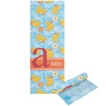 Rubber Duckies & Flowers Yoga Mat - Printable Front and Back (Personalized)
