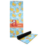 Rubber Duckies & Flowers Yoga Mat (Personalized)
