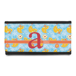 Rubber Duckies & Flowers Leatherette Ladies Wallet (Personalized)
