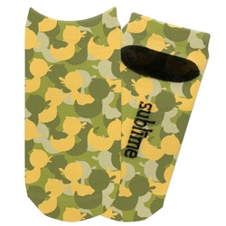 Rubber Duckie Camo Adult Ankle Socks (Personalized)