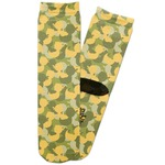 Rubber Duckie Camo Adult Crew Socks (Personalized)