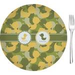 Rubber Duckie Camo Glass Appetizer / Dessert Plates 8